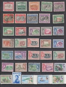 Useful Dominica used and mint selection