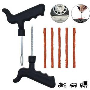 Car Tubeless Emergency Tyre Tire Puncture Repair Kit Fix Tools Needle Patch