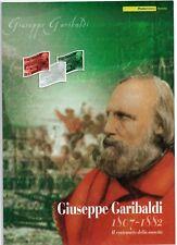 ITALIA - FOLDER 2007 - GIUSEPPE GARIBALDI - LAMINA D'ORO - AL PREZZO PIU' BASSO