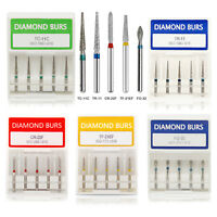 50PCS dentaire fraises Dental Diamond Burs FG1.6mm For High Speed Handpiece 10x