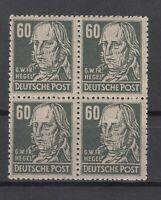 DC7986/ GERMANY SOVIET ZONE – MI # 225a MINT MNH BLOCK OF 4 SIGNED REHN BPP