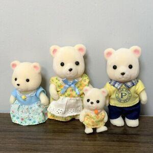 4x Sylvanian Families Polaris Polar Bear Family Figures Calico Critter Xmas Gift