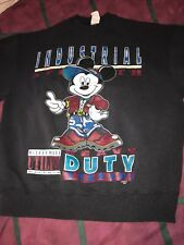 Vtg Mickey Mouse Industrial Heavy Duty Thready Crewneck Sweatshirt L/XL