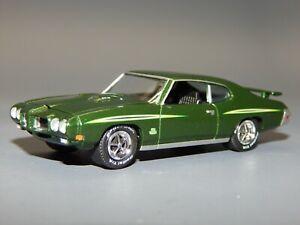 1970 Pontiac GTO Judge Ram Air 400 Dark Green 1/64 scale Diorama Replica VHTF