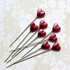 Maya Road Trinket Pins RED HEART 12p Scrapbook DIY Home Decor Mixed Media