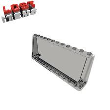 1 x [neu] LEGO Windschutzscheibe 2 x 12 x 4 - transparent-schwarz - 6267