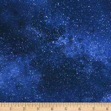 Space Stars Fabric Fat Quarter Cotton Craft Quilting Night Sky Galaxy