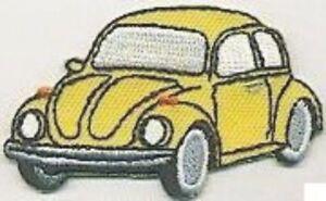 "2.5 "" Jaune Beetle Véhicule Voiture Revers Gauche Broderie Brassage"