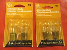93 GE-12 VOLT-CLEAR  BULB- DOME-COURTESY-- LOT OF 4-  MADE IN USA-