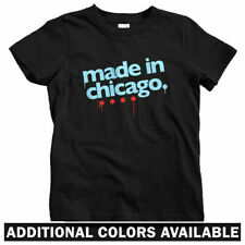 Made In Chicago Kids T-shirt - Baby Toddler Youth Tee - Illinois Chi-Town Gift