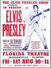 Vintage 1950's Elvis Florida American Music Concert Poster Repro A4 Print