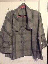 NWT A.N.A Cropped Blazer Jacket Gray Plaid Size XL $54