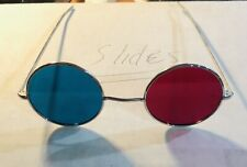 1960's 3D Glasses Red & Blue Lens Cool Retro 3-D Chrome Metal Rim John Lennon