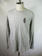 F3149 Polo Bear by Ralph Lauren American Flag Long Sleeve T-Shirt Size L