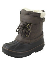 London Fog Toddler Boy's Oxford Water Resistant Brown Winter Boots Shoes
