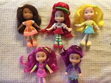 Strawberry Shortcake Soft Bodied Dolls Complete Set Plum Pudding Raspberry Torte