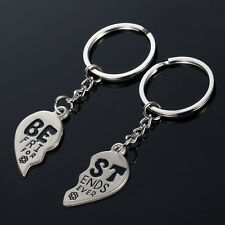 Heart Keychain Best Friends Forever Men Women Key Ring Friendship Gift Jewelry