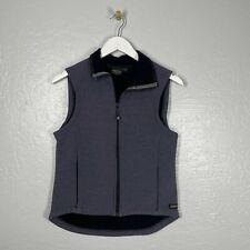 Kerrits Size M Equestrian Riding Vest Blue Fleece Zipper Pockets