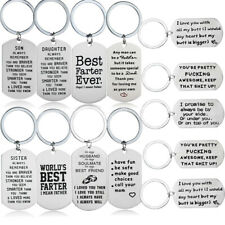 Keyring Gifts For Mom Dad Best Friends Love Husband Boyfriend Gifts Keychain Tag