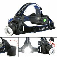LOT 8000LM Tactical T6 LED Headlamp Zoomable Focus HeadLight Lamp Torch Light US