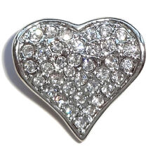Pendentif Coeur style Faberge décorée par strass, Cadeau St Valentin COEUR
