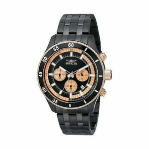 Invicta Men's Watch Stainless Steel Polycarbonate Bracelet Chronograph 17739