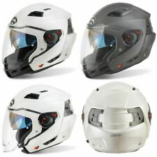Casco AIROH EJECUTIVO CASCO De Moto Scooter Crash Convertible R Antracita Blanco