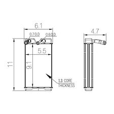 HVAC Heater Core TYC 96121