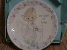 Precious Moments Small Porcelain Plate The Voice of Spring