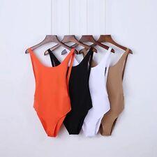 Women Bodysuit Romper Tank Top Stretch Sleeveless Jumpsuit Catsuit Backless Hot