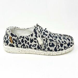 Hey Dude Wendy Woven Cheetah Grey Womens Casual Lightweight Shoes 121413091