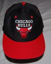 Vintage Chicago Bulls NBA Basketball Hat Trucker Cap Black Red Snapback OSFA