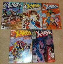 Uncanny X-Men #216 217 218 219 220 (1963) (5 Comics) Juggernaut Wolverine Storm