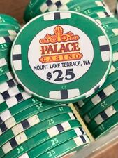 100 $25 Palace Casino Chips - Chipco - 39Mm Green