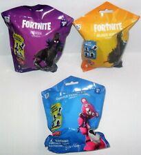 Domez Fortnite Series 1 Lot Of 3 Cuddle Team Leader Raven & Black Knight Packs
