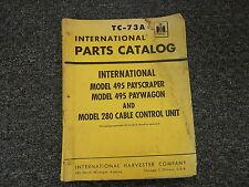 International Ih 495 Payscraper Paywagon & 280 Control Unit Parts Catalog Manual
