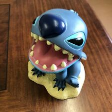 Disney Collectibles STITCH  piggy bank plastic molded multi colored nice Used