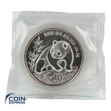 *** 10 Yuan Gedenkmünze China 1990 Panda Bär 1 oz / Unze Silber verschweißt ***