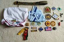 Scouting lot - pins, patches, neckerchiefs, badges