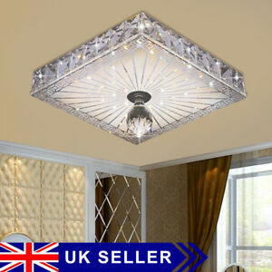 Square LED Crystal Ceiling Down Light Panel Wall Kitchen Bathroom Lamp Cool NICE