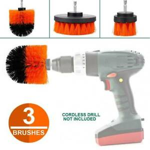 3x Drill Brush Cleaning Polishing Brush Kit for Upholstery Car Tyre Rotary Tool