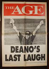 1996 The Age Deano's Last Laugh Newspaper Cricket Poster Dean Jones