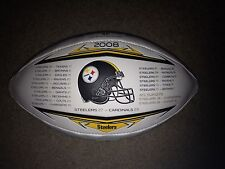 2009 Wilson Super Bowl XLIII 43 Commemorative Football Steelers 1 of 5000