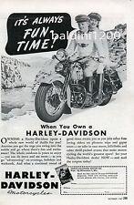 HARLEY DAVIDSON VINTAGE ADVERTISING PHOTO PRINT REPRODUCTION