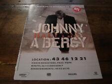 JOHNNY HALLYDAY - PUBLICITE CONCERT BERCY 1992 !!!!!!!!