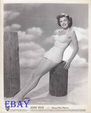 Joan Rice busty barefoot VINTAGE Photo