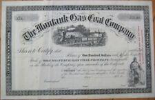 1890 Stock Certificate: Montauk Gas Coal-Long Island NY