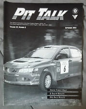 PIT TALK RACING MAGAZINE 2003 SEPTEMBER RALLY X SCCA AUTO CROSS LIMEROCK