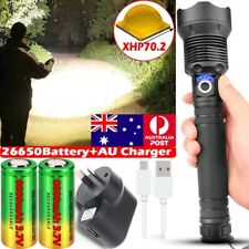AU 999000LM Flashlight CREE XML XHP70 XHP50 LED Torch Rechargeable Headlamp Camp