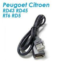 Cable USB PEUGEOT CITROEN AUTORADIO RT6 RD9 RD5 AUX USB PSA - VENDEUR PRO REF2